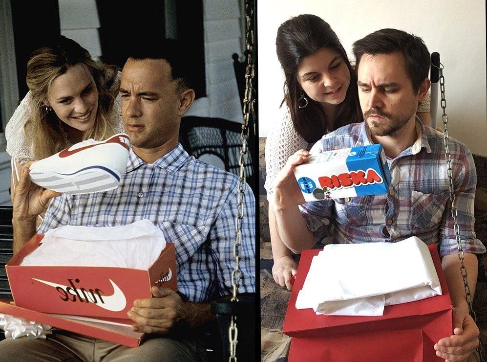 Fun: Ένα ζευγάρι αναπαριστά διάσημες κινηματογραφικές σκηνές στο σπίτι του