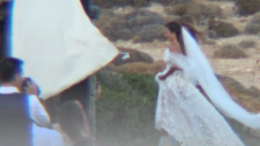 Εριέττα Κούρκουλου: Στιγμιότυπα από τον παραμυθένιο γάμο της στη Μύκονο